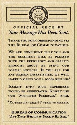 The Bureau Of Communication